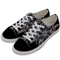 Ice Crystal Ice Form Frost Fabric Women s Low Top Canvas Sneakers by Onesevenart