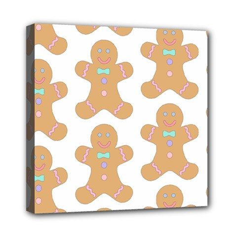 Pattern Christmas Biscuits Pastries Mini Canvas 8  X 8  by Onesevenart