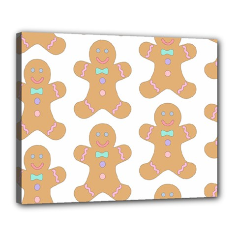 Pattern Christmas Biscuits Pastries Canvas 20  X 16  by Onesevenart