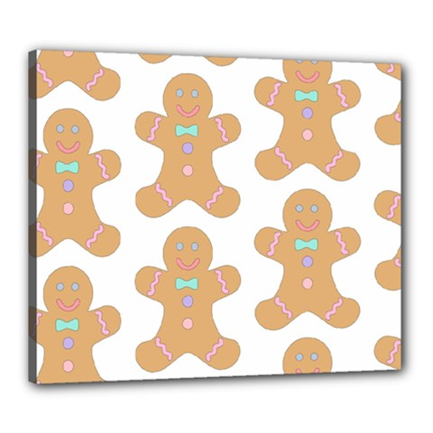 Pattern Christmas Biscuits Pastries Canvas 24  X 20  by Onesevenart