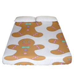 Pattern Christmas Biscuits Pastries Fitted Sheet (king Size) by Onesevenart