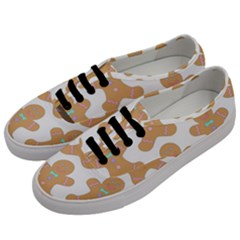 Pattern Christmas Biscuits Pastries Men s Classic Low Top Sneakers by Onesevenart