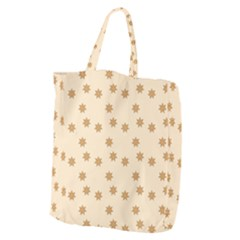 Pattern Gingerbread Star Giant Grocery Zipper Tote by Onesevenart