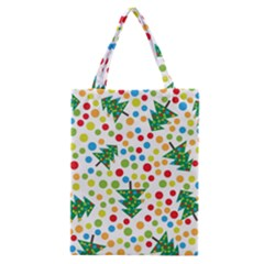 Pattern Circle Multi Color Classic Tote Bag by Onesevenart