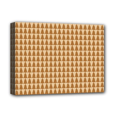 Pattern Gingerbread Brown Deluxe Canvas 16  X 12   by Onesevenart