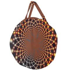 Pattern Texture Star Rings Giant Round Zipper Tote by Onesevenart