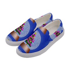 Seamless Repeat Repeating Pattern Art Women s Canvas Slip Ons by Onesevenart