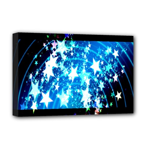 Star Abstract Background Pattern Deluxe Canvas 18  X 12   by Onesevenart