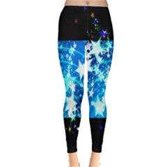 Star Abstract Background Pattern Leggings  by Onesevenart