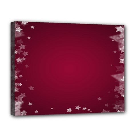 Star Background Christmas Red Canvas 14  X 11  by Onesevenart