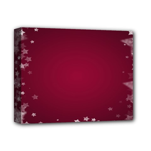 Star Background Christmas Red Deluxe Canvas 14  X 11  by Onesevenart
