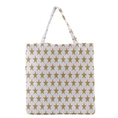 Star Background Gold White Grocery Tote Bag by Onesevenart