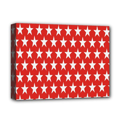 Star Christmas Advent Structure Deluxe Canvas 16  X 12   by Onesevenart