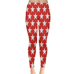 Star Christmas Advent Structure Leggings  by Onesevenart