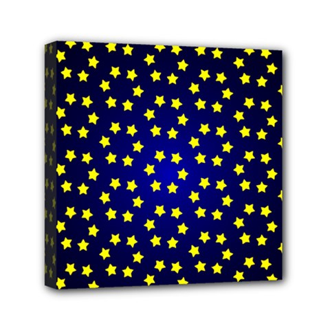 Star Christmas Red Yellow Mini Canvas 6  X 6  by Onesevenart