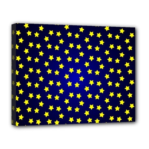 Star Christmas Red Yellow Canvas 14  X 11  by Onesevenart