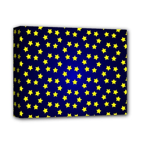 Star Christmas Red Yellow Deluxe Canvas 14  X 11  by Onesevenart