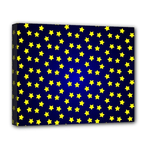 Star Christmas Red Yellow Deluxe Canvas 20  X 16   by Onesevenart