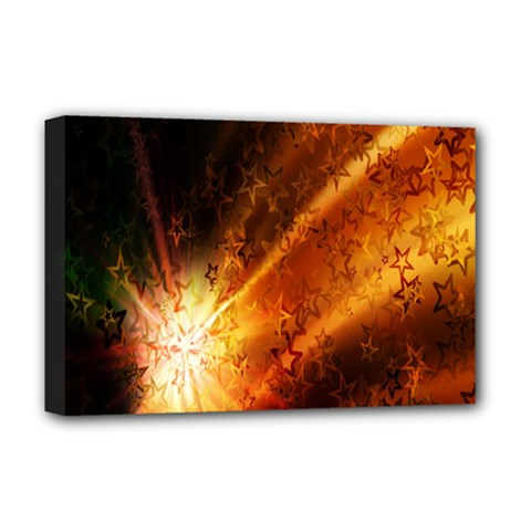 Star Sky Graphic Night Background Deluxe Canvas 18  X 12   by Onesevenart