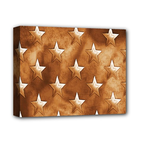 Stars Brown Background Shiny Deluxe Canvas 14  X 11  by Onesevenart