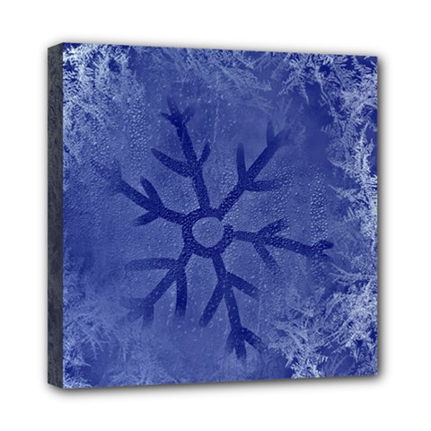 Winter Hardest Frost Cold Mini Canvas 8  X 8  by Onesevenart