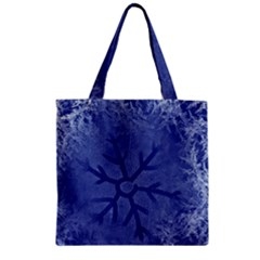 Winter Hardest Frost Cold Zipper Grocery Tote Bag by Onesevenart