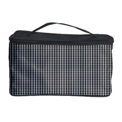 Black Polka Dots Line Plaid Cosmetic Storage Case by Jojostore