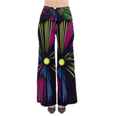 Fireworks Pink Red Yellow Green Black Sky Happy New Year Pants by Jojostore