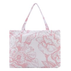 Vintage Pink Floral Medium Tote Bag by 8fugoso