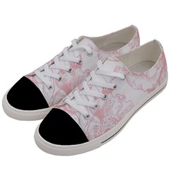 Vintage Pink Floral Women s Low Top Canvas Sneakers by 8fugoso