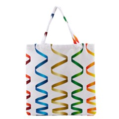 Tape Birthday Ribbon Party Yellow Red Blue Green Gold Rainbow Grocery Tote Bag by Jojostore