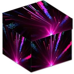 Happy New Year City Semmes Fireworks Rainbow Red Blue Purple Sky Storage Stool 12   by Jojostore