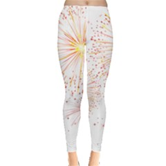 Fireworks Triangle Star Space Line Leggings  by Mariart