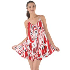 Red Flower Floral Leaf Love The Sun Cover Up by Mariart