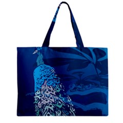 Peacock Bird Blue Animals Zipper Mini Tote Bag by Mariart
