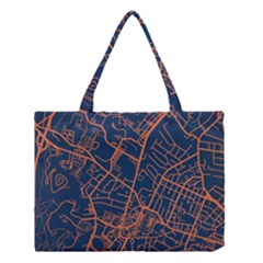 Virginia Map Art City Medium Tote Bag by Mariart