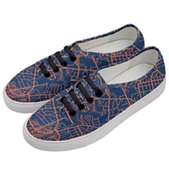 Virginia Map Art City Women s Classic Low Top Sneakers by Mariart
