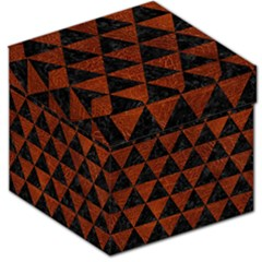 Triangle3 Black Marble & Reddish Brown Leather Storage Stool 12   by trendistuff