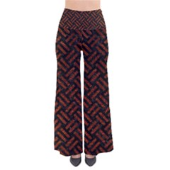 Woven2 Black Marble & Reddish Brown Leather (r) Pants by trendistuff