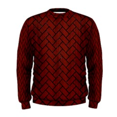 Brick2 Black Marble & Reddish Brown Wood Men s Sweatshirt