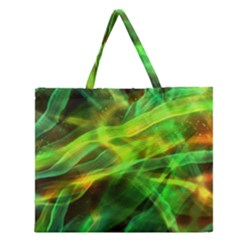 Abstract Shiny Night Lights 1 Zipper Large Tote Bag by tarastyle