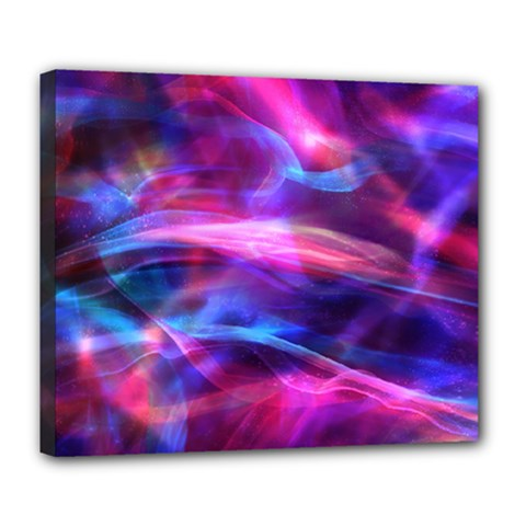 Abstract Shiny Night Lights 5 Deluxe Canvas 24  X 20   by tarastyle