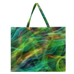Abstract Shiny Night Lights 8 Zipper Large Tote Bag by tarastyle