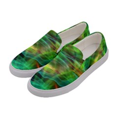 Abstract Shiny Night Lights 8 Women s Canvas Slip Ons by tarastyle