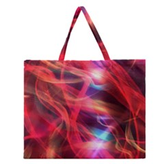 Abstract Shiny Night Lights 9 Zipper Large Tote Bag by tarastyle
