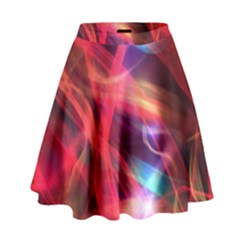 Abstract Shiny Night Lights 9 High Waist Skirt by tarastyle