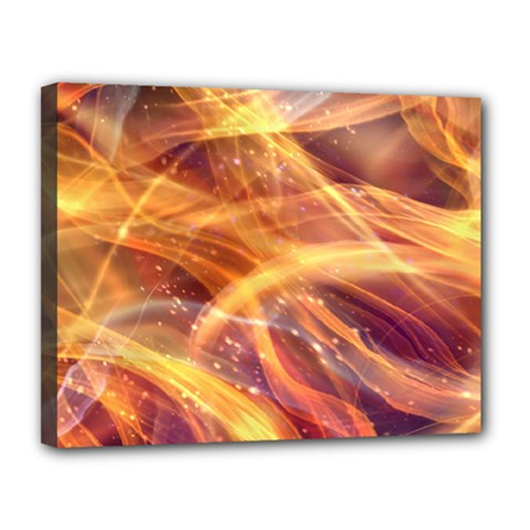 Abstract Shiny Night Lights 10 Canvas 14  X 11  by tarastyle