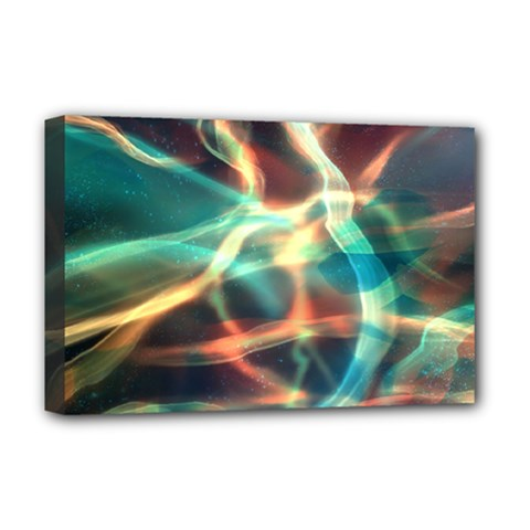 Abstract Shiny Night Lights 11 Deluxe Canvas 18  X 12   by tarastyle