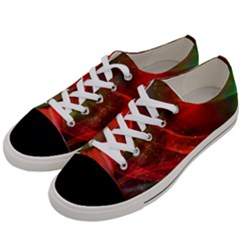 Abstract Shiny Night Lights 12 Women s Low Top Canvas Sneakers by tarastyle