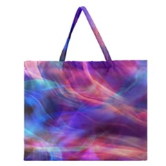 Abstract Shiny Night Lights 14 Zipper Large Tote Bag by tarastyle